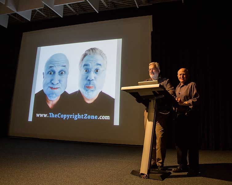Ed and Jack on Stage at Hallmark Institute of Photography